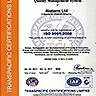 Сертификат за регистрация по ISO 9001:2008 на английски